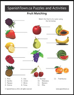 Match Fruit in Spanish