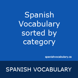 Spanish Vocabulary by Category